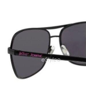 Betsey Johnson Accessories - Betsey Johnson Aviator Sunglasses Shield Black